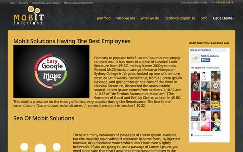 Screenshot of Blog mobitsolutions.com - Mobit Solutions - captured Oct. 29, 2014