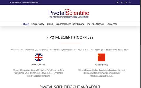 Screenshot of Contact Page pivotalscientific.com - Contact us – Pivotal Scientific - captured July 19, 2018