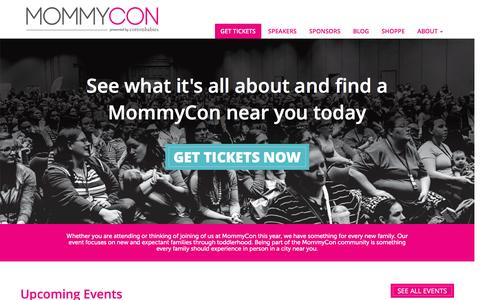 Screenshot of Home Page mommycon.com - MommyCon :: MommyCon - captured May 6, 2017