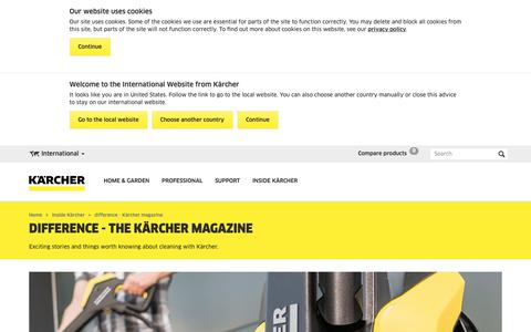 Screenshot of Press Page kaercher.com - difference - Kärcher magazine   Kärcher International - captured Oct. 16, 2018