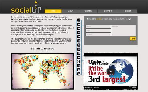 Screenshot of Home Page socialupmedia.com - Social Media Management | Social Media Optimization | Facebook Advertising - captured Sept. 30, 2014