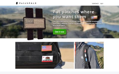 Screenshot of Home Page ruckworks.com - PatchPALS by RuckWorks - captured Sept. 3, 2015
