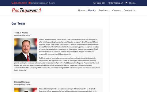 Screenshot of Team Page protransport-1.com - Our Team - ProTransport-1 - captured July 17, 2018