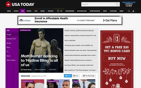 Screenshot of Team Page usatoday.com - Celebrity Photos, Videos and Interviews - USATODAY.com - captured Dec. 17, 2015