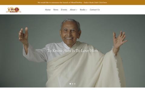 Screenshot of Home Page sadhuvaswani.org - Sadhu Vaswani Mission - captured Oct. 1, 2018