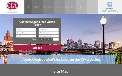 Screenshot of Site Map Page connellinsurancenj.com - Site Map - Connell Insurance Agency NJ - captured Sept. 29, 2018