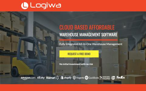 Screenshot of Landing Page logiwa.com - Cloud-based Small Business Warehouse Management System for Retail, eCommerce, 3pl and wholesale - captured Aug. 11, 2017