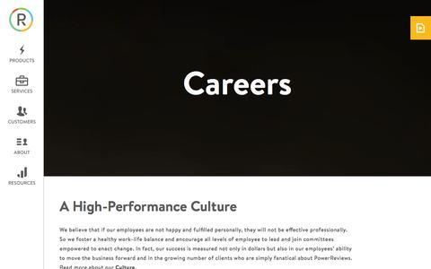 Screenshot of Jobs Page powerreviews.com - Careers � PowerReviews - captured Dec. 11, 2015