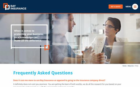 Screenshot of FAQ Page bayinsurance.co.nz - Frequently asked questions and responses: Bay Insurance - captured Oct. 10, 2017
