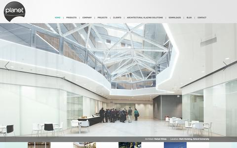 Screenshot of Home Page Site Map Page planetpartitioning.co.uk - Planet Partitioning - demountable glass partitioning and architectural glazing - captured Sept. 30, 2014