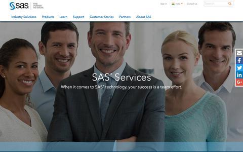 Screenshot of Services Page sas.com - Services   SAS - captured Dec. 2, 2018