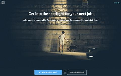 Screenshot of Home Page hiremyfriend.io - Hire My Friend - captured Dec. 13, 2014