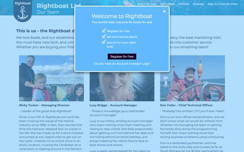 Screenshot of Team Page rightboat.com - Rightboat - captured Oct. 20, 2018