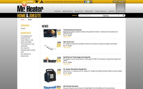 Screenshot of Press Page mrheater.com - Blog - News - captured Sept. 19, 2014