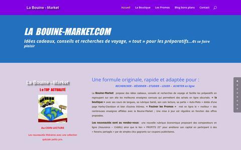 Screenshot of Home Page labouine-market.com - idées cadeaux, conseils et recherches de voyage - captured Sept. 3, 2015