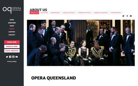 Screenshot of About Page oq.com.au - About Us | Opera Queensland – Season 2019 - captured Nov. 15, 2018