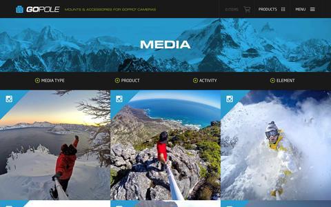 Screenshot of Press Page gopole.com - Media | GoPole Mounts & Accessories - captured Jan. 23, 2016