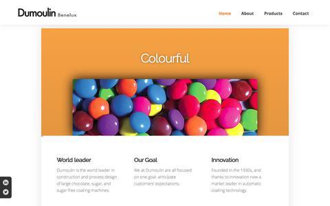 Screenshot of Home Page dumoulin-benelux.com - dumoulin-benelux.com - captured June 5, 2017