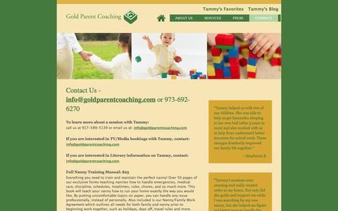 Screenshot of Contact Page goldparentcoaching.com - Gold Parent Coaching - captured Sept. 30, 2014