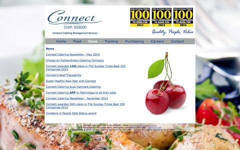 Screenshot of Press Page connectcatering.co.uk - Connect Catering - captured Oct. 2, 2014
