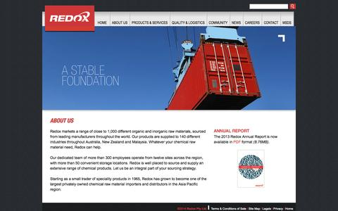 Screenshot of About Page redox.com - Redox - About Us - captured Oct. 26, 2014