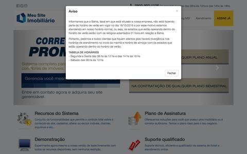 Screenshot of Home Page meusiteimobiliario.com.br - Meu Site Imobiliário - Site para Imobiliaria e Corretores de imóveis online - captured Nov. 12, 2016