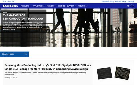 Screenshot of Press Page samsung.com - News   Samsung Semiconductor Global - captured July 4, 2016