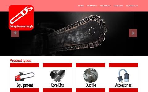 Screenshot of Products Page chicagodiamondsupply.net - CDS - captured July 13, 2016