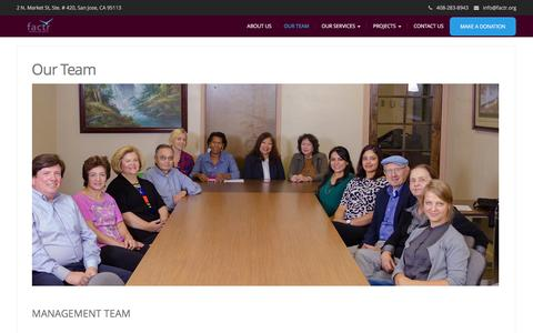 Screenshot of Team Page factr.org - Our Team – factr - captured Nov. 24, 2016