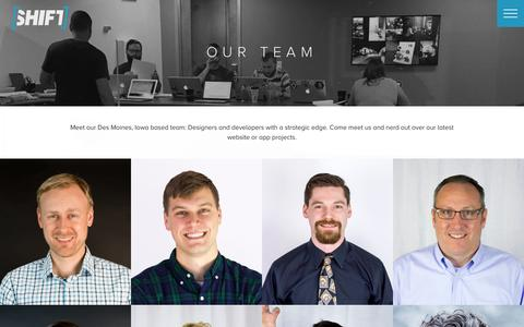 Screenshot of Team Page shiftdsm.com - Shift Interactive :: Our Team - captured Feb. 14, 2016