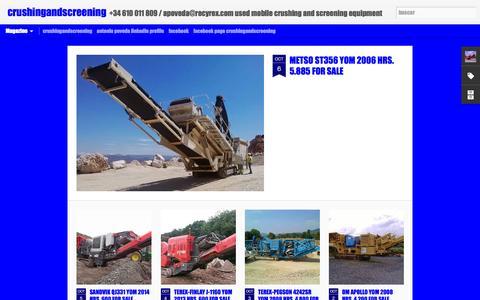 Screenshot of Home Page crushingandscreening.blogspot.com - crushingandscreening - captured Oct. 6, 2014