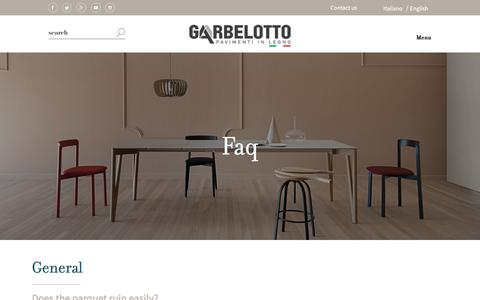 Screenshot of FAQ Page garbelotto.it - Frequently Asked Questions FAQ | Garbelotto - captured Feb. 19, 2018