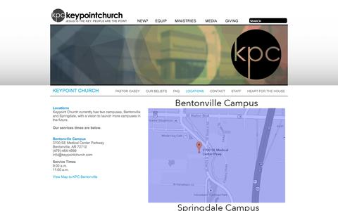 Screenshot of Locations Page keypointchurch.com - keypointchurch - captured Sept. 30, 2014
