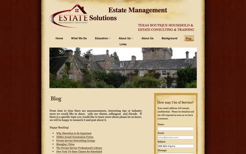 Screenshot of Blog vanryder.com - Blog | Estate Management Solutions - captured Oct. 3, 2014