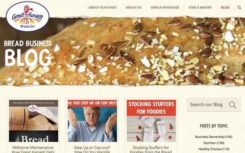 Screenshot of Blog greatharvest.com - The Bread Business Blog - captured Dec. 12, 2015
