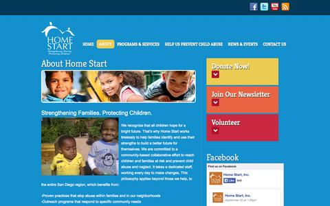 Screenshot of About Page home-start.org - About | Home Start - captured Oct. 2, 2014