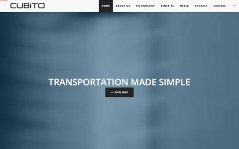 Screenshot of Home Page cubito.in - Transportation Made Simple - captured Feb. 1, 2016