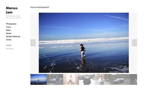 Screenshot of Blog marcuslam.com - Flickr Blog — Marcus Lam - captured Feb. 12, 2016
