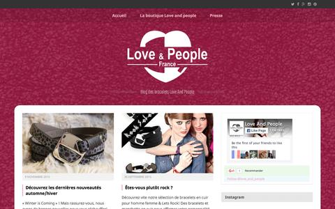 Screenshot of Blog loveandpeople.com - Blog des Bracelets Love & People - captured Dec. 13, 2015