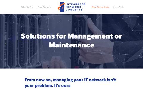 Screenshot of Team Page integrated.net - Solutions for Management or Maintenance — Integrated Network Concepts - captured Oct. 12, 2018