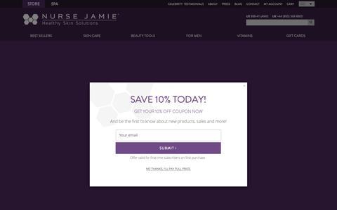 Screenshot of Testimonials Page nursejamie.com - Testimonials  - Nurse Jamie Healthy Skin Solutions - captured Oct. 18, 2018