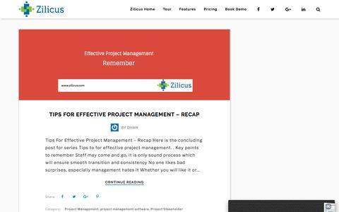Screenshot of Blog zilicus.com - Zilicus Blog   Project Management Software - Project Management Made Easy! - captured Sept. 20, 2018