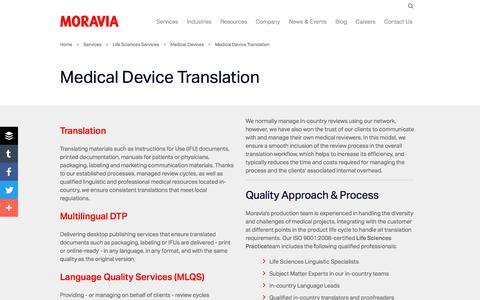 Medical Device Translation - Moravia