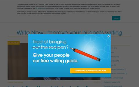 Screenshot of Blog writing-skills.com - Write Now: improve your business writing - Emphasis - captured Aug. 20, 2019