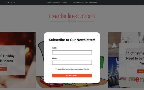 Screenshot of Blog cardsdirect.com - CardsDirect Blog - News and Insights from the World of Greeting Cards - captured Nov. 4, 2018