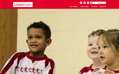 Screenshot of Signup Page littlekicks.co.uk - Find Little Kickers® classes and venues near you for pre school and junior football coaching - captured Jan. 31, 2016