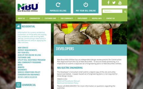 Screenshot of Developers Page nbutexas.com - Developers - captured Oct. 7, 2014