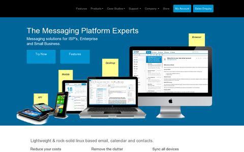 Screenshot of Home Page atmail.com - Atmail - Messaging Platform. Email Server, Webmail & Calendar. - captured July 12, 2014