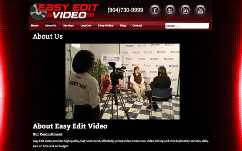 Screenshot of About Page easyeditvideo.com - About Us | Easy Edit Video - captured Sept. 29, 2014