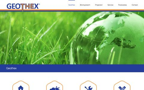 Screenshot of Home Page geothex.nl - Geothex | The innovative use of geothermal energy - captured Jan. 27, 2016